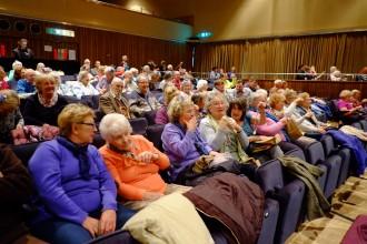 Audience watching Gentlemen Prefer Blondes
