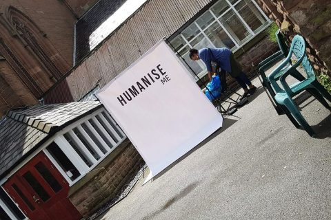 The Humanise Community Film Club set up a community outreach pop-up in Edge Hill